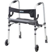 Clever-Lite LS Rollator Walker with Seat and Push Down Brakes