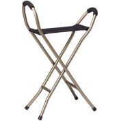 Drive Medical RTL10360 Deluxe Folding Lightweight Cane with Sling Style Seat