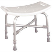 Drive Medical 12022KD-1 Bariatric Heavy Duty Bath Bench Without Back, Knock Down