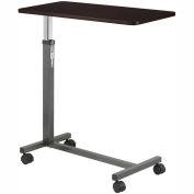 Non Tilt Top Overbed Table, Silver Vein Base