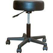 Drive Medical 13079 Padded Seat Revolving Pneumatic Adjustable Height Stool, Plastic Base