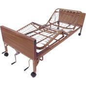 "Drive Medical Multi Height Manual Bed 15003BV-PKG-1-T, 16""-24.5""H, Half Rails, Therapeutic Mattress"