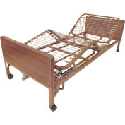 "Drive Medical Full Electric Bed 15005BV-HR, 16""-24.5""H, W/Half Rails, Brown"