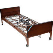 "Delta Ultra Light Semi Electric Bed 15030BV-PKG-1, 15""-24""H, W/Half Rails, Inner Spring Mattress"