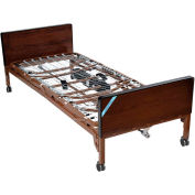 "Delta Ultra Light Full Electric Bed 15033BV-PKG-1-T, 16""-22""H, W/Half Rails, Therapeutic Mattress"