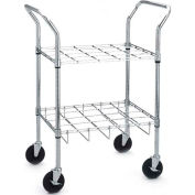 Drive Medical 18143 Oxygen Cylinder Cart, For Use with 12 C, D, E, or M9 Cylinders