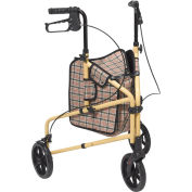 Drive Medical 199 Winnie Lite Supreme Aluminum Three Wheel Rollator, Tan Plaid