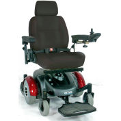 "Drive Medical Image EC Mid Wheel Drive Wheelchair 2800ECBU-RCL, 18"" Seat, 300 Lb. Capacity, Burgundy"