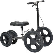 Drive Medical 990X All-Terrain Knee Walker Knee Scooter, Silver Vein