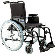 """18"""" Ultra-Light Cougar Wheelchair, Detachable """"T"""" Style Desk Arm, Swing-away Footrests"""