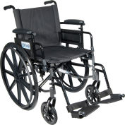 "Cirrus IV Wheelchair with Adjustable Arms, Detachable Desk Arms, Swing Away Footrests, 18"" Seat"