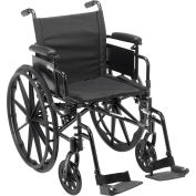 "Cruiser X4 Wheelchair with Adjustable Detachable Arms, Desk Arms, Swing Away Footrests, 16"" Seat"