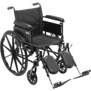 "Cruiser X4 Wheelchair with Adjustable Detachable Arms, Full Arms, Elevating Leg Rests, 18"" Seat"