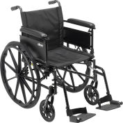 "Cruiser X4 Wheelchair with Adjustable Detachable Full Arms, Swing Away Footrests, 20"" Seat"