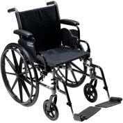 "18"" Cruiser III Wheelchair, Flip Back Detachable & Adj. Height Desk Arms, Elevating Legrests"