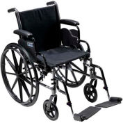 "20"" Cruiser III Wheelchair, Flip Back Detachable & Adj. Height Desk Arms, Swing-away Footrests"