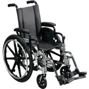 "18"" Viper Wheelchair, Flip Back Full Arm, Swing-away Footrests"