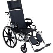 "Viper Plus GT Full Reclining Wheelchair, Detachable Desk Arms, 16"" Seat"
