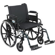 """22"""" Viper Plus GT Wheelchair, Flip Back Removable Adjustable Desk Arms, Swing Away Footrests"""