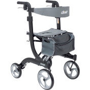 Drive Medical RTL10266BK-T Nitro Euro Style Walker Rollator, Tall Height, Black