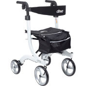 Drive Medical RTL10266WT-T Nitro Euro Style Walker Rollator, Tall Height, White