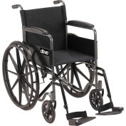 "Silver Sport 1 Wheelchair with Full Arms and Swing-away Footrests, 18"" Seat"