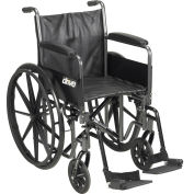 """Silver Sport 2 Wheelchair, Detachable Full Arms, Swing Away Footrests, 20"""" Seat"""