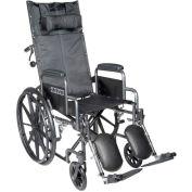 "18"" Sentra Full Reclining Wheelchair, Detachable Full Arms, Elevating Legrests"