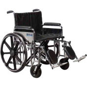 "22"" Sentra Extra Heavy Duty Wheelchair, Detachable Desk Arm, Swing-away Footrests"