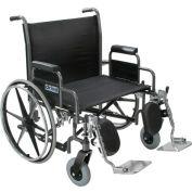 "26"" Bariatric Sentra Heavy Duty Extra Extra Wide Wheelchair, Detachable Full Arm"