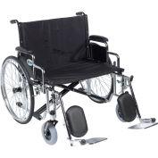 "26"" Sentra EC Heavy Duty Extra Wide Wheelchair, Detachable Desk Arms, Elevating Leg Rests"