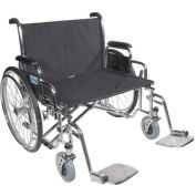 "26"" Bariatric Sentra EC Heavy Duty Extra Extra Wide Wheelchair, Detachable Desk Arms"