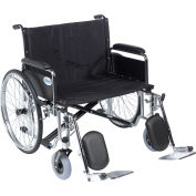 """26"""" Sentra EC Heavy Duty Extra Wide Wheelchair, Detachable Full Arms, Elevating Leg Rests"""