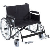 """26"""" Sentra EC Heavy Duty Extra Wide Wheelchair, Detachable Full Arms, Swing Away Footrests"""
