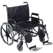 """30"""" Deluxe Sentra Heavy Duty Extra Extra Wide Wheelchair, Detachable Desk Arm & Elevating Leg Rests"""