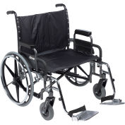 """30"""" Deluxe Sentra Heavy Duty Extra Extra Wide Wheelchair, Detachable Desk Arm & Swing Away Footrests"""