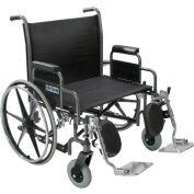 "30"" Bariatric Sentra Heavy Duty Extra Extra Wide Wheelchair, Detachable Desk Arm"