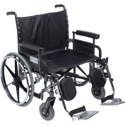 """30"""" Deluxe Sentra Heavy Duty Extra Extra Wide Wheelchair, Detachable Full Arm & Elevating Leg Rests"""