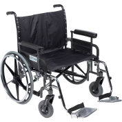 """30"""" Deluxe Sentra Heavy Duty Extra Extra Wide Wheelchair, Detachable Full Arm & Swing Away Footrests"""