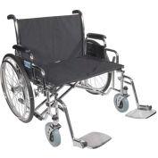 "30"" Bariatric Sentra EC Heavy Duty Extra Extra Wide Wheelchair, Detachable Desk Arms"