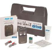 Drive Medical Portable Dual Channel TENS Unit AGF-3E, W/Electrodes & Carry Case, Black