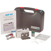 Drive Medical Portable Dual Channel TENS Unit AGF-3X, W/Electrodes & Carry Case, Silver