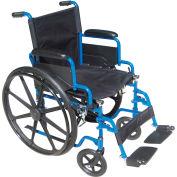 """16"""" Blue Streak Wheelchair, Flip Back Desk Arms, Swing-away Footrests"""