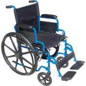 "20"" Blue Streak Wheelchair, Flip Back Desk Arms, Elevating Legrests"