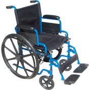 "20"" Blue Streak Wheelchair, Flip Back Desk Arms, Elevating Legrests"