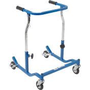 Drive Medical Anterior Safety Roller CE 1000 NBL, Adult, Aluminum, Blue