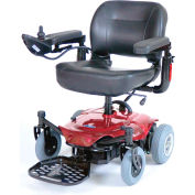 Drive Medical Cobalt Travel Power Wheelchair COBALTRD16FS, 250 Lb. Capacity, Red