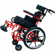 "Drive Medical Kanga TS Pediatric Tilt In Space Wheelchair KG 1000, Aluminum, 10""W, Yellow"