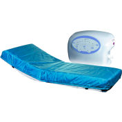 """Drive Medical 10"""" Lateral Rotation Mattress with on Demand Low Air Loss, 80""""L x36""""W x 10""""H"""