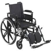 "16"" Viper Plus GT Wheelchair, Flip Back & Detachable Adj. Height Desk Arm, Elevating Legrests"
